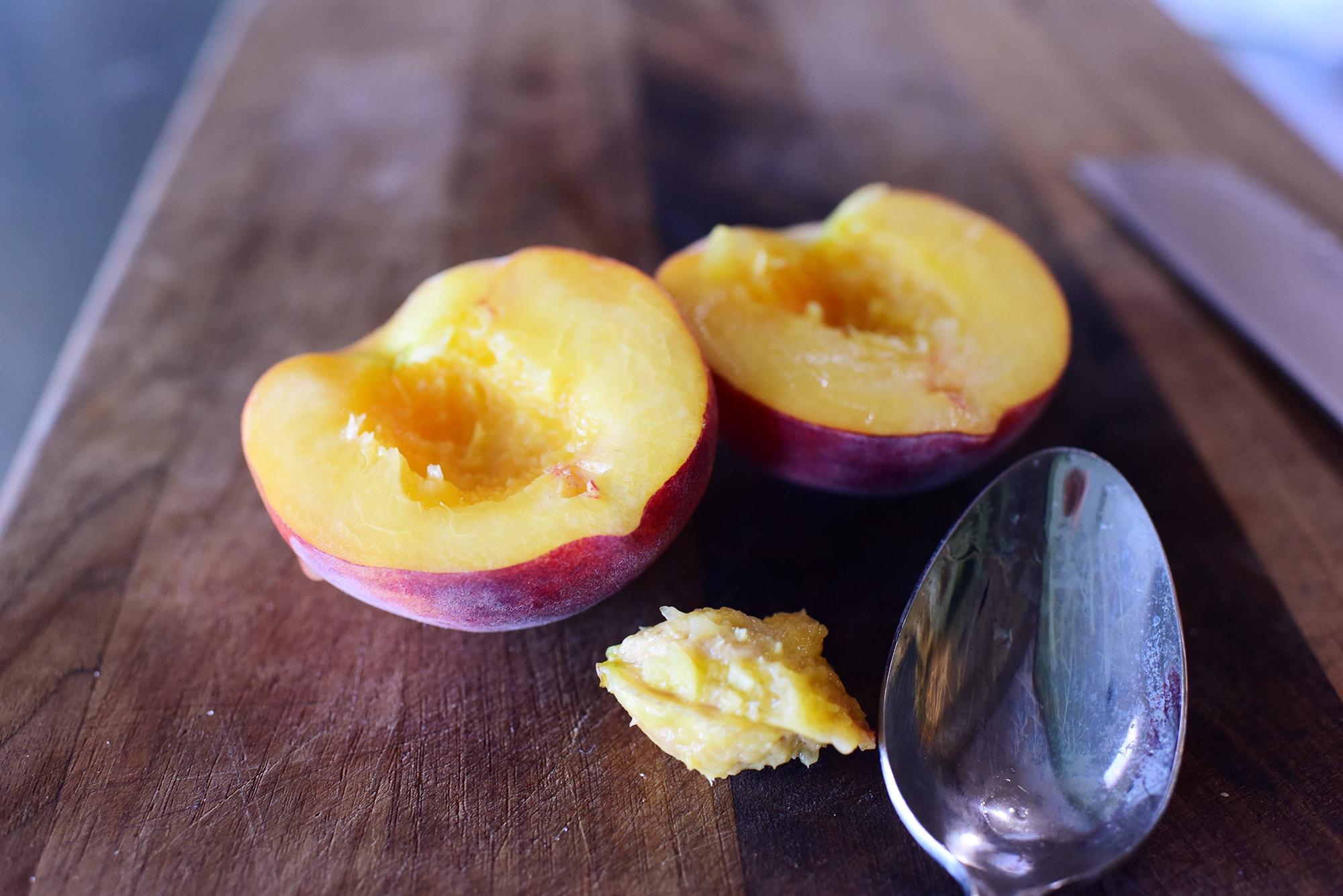 Персики для блинчиков