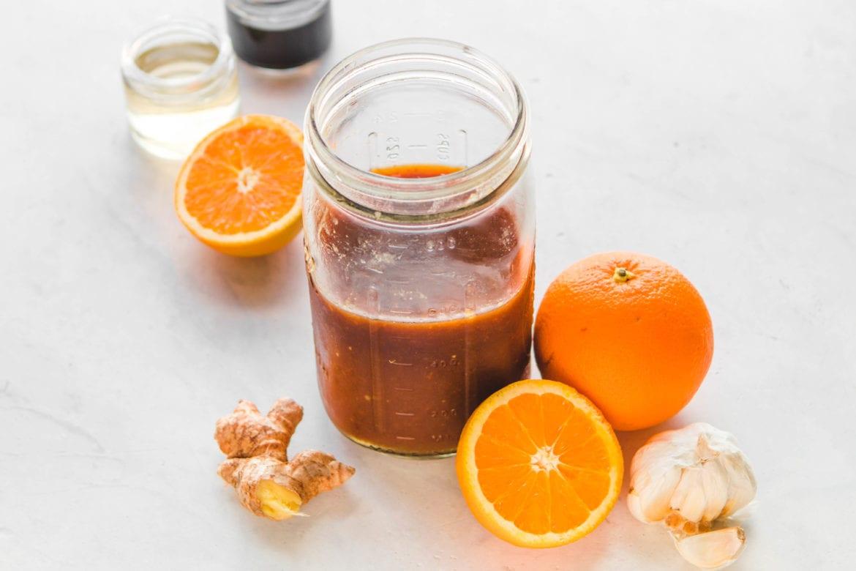 Фотография апельсинового соуса