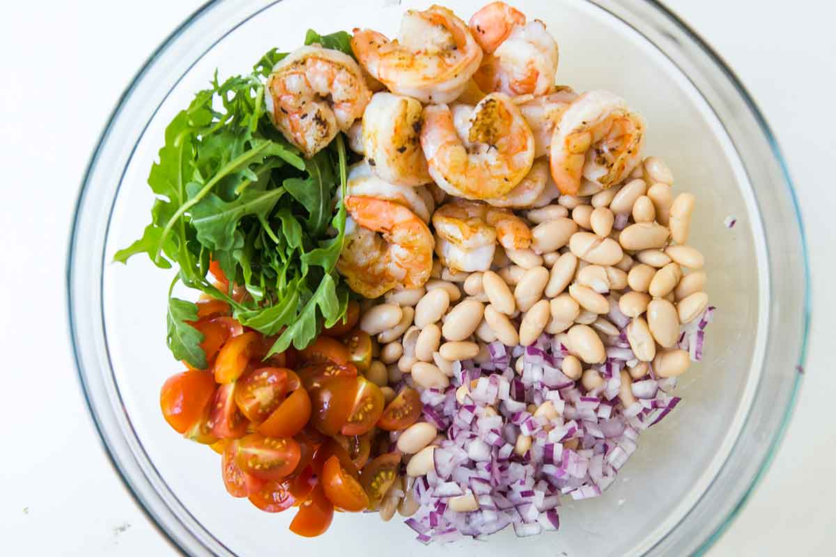 Ингредиенты для салата с креветками