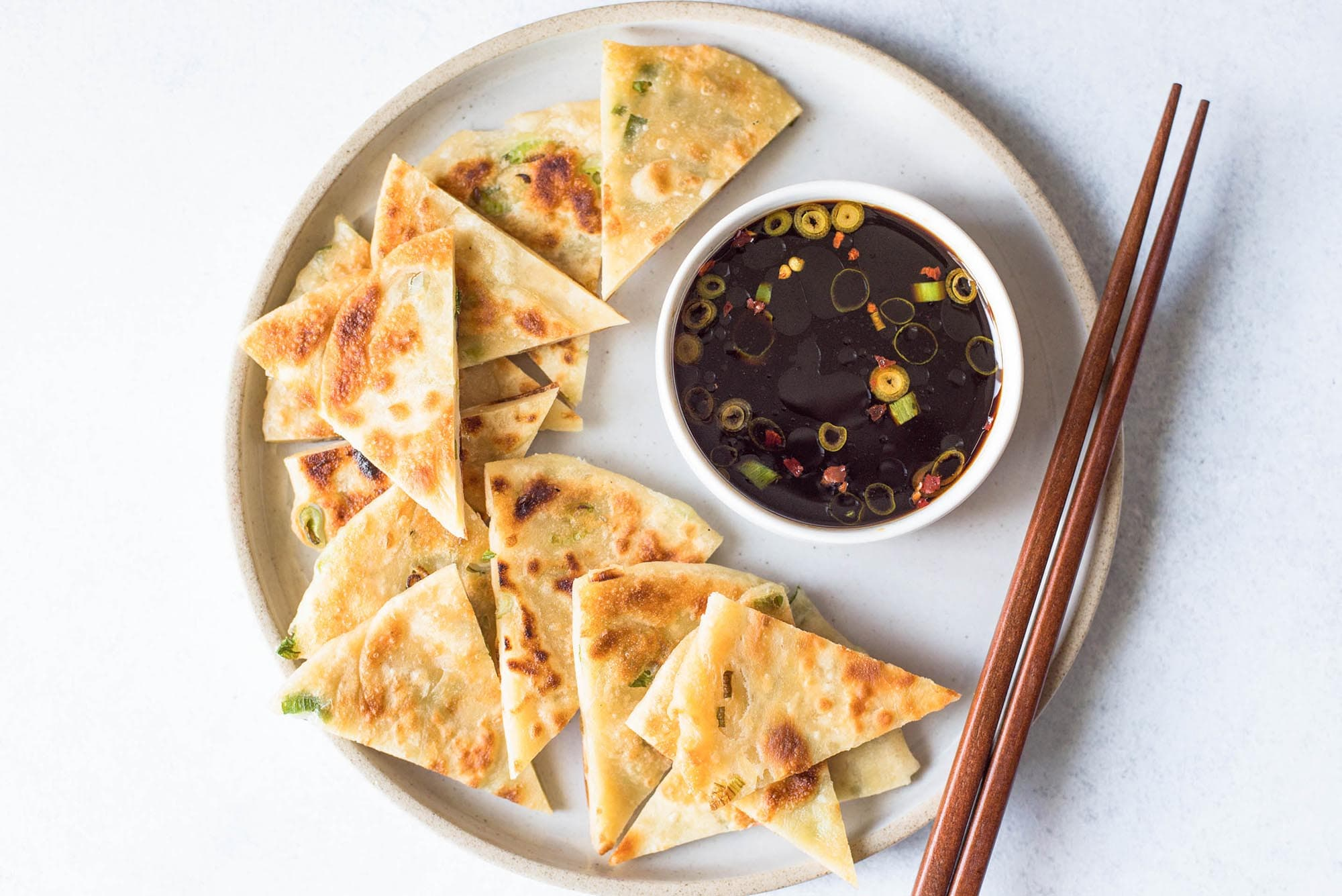 Китайские лепешки с луком