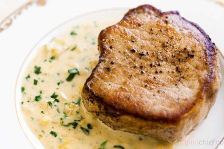Рецепт свиных отбивных в горчице