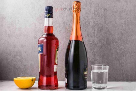 Классический рецепт приготовления коктейля Апероль Шприц - пошагово с фото