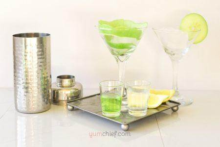 Ингредиенты для яблочного мартини - фото