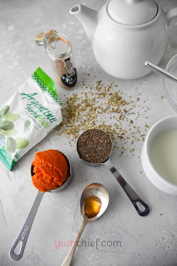 Ингредиенты для пудинга из тыквы