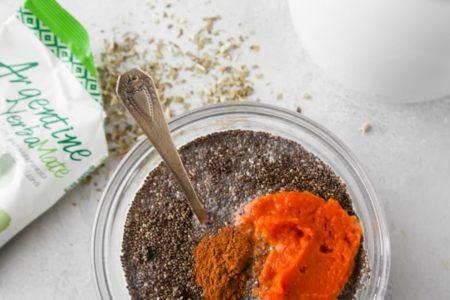 Фото ингредиентов для пудинга из тыквы