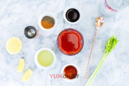 Рецепт коктейля Кровавая Мэри - фото ингредиентов
