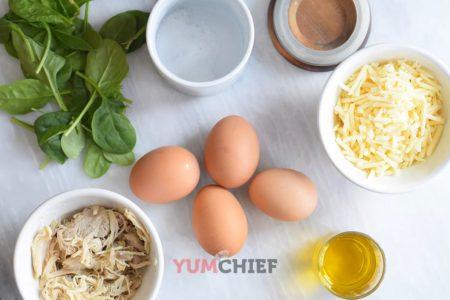 Рецепт омлета с курицей - фото ингредиентов