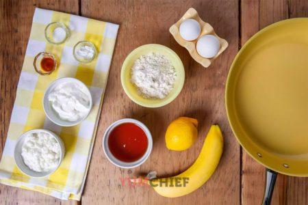 Ингредиенты для панкейков с бананом