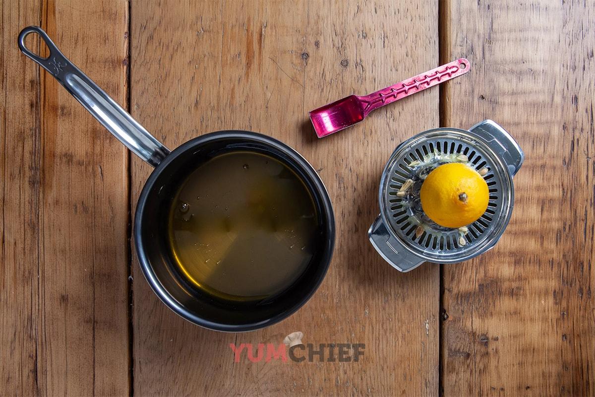 Медово-лимонный сироп для панкейков