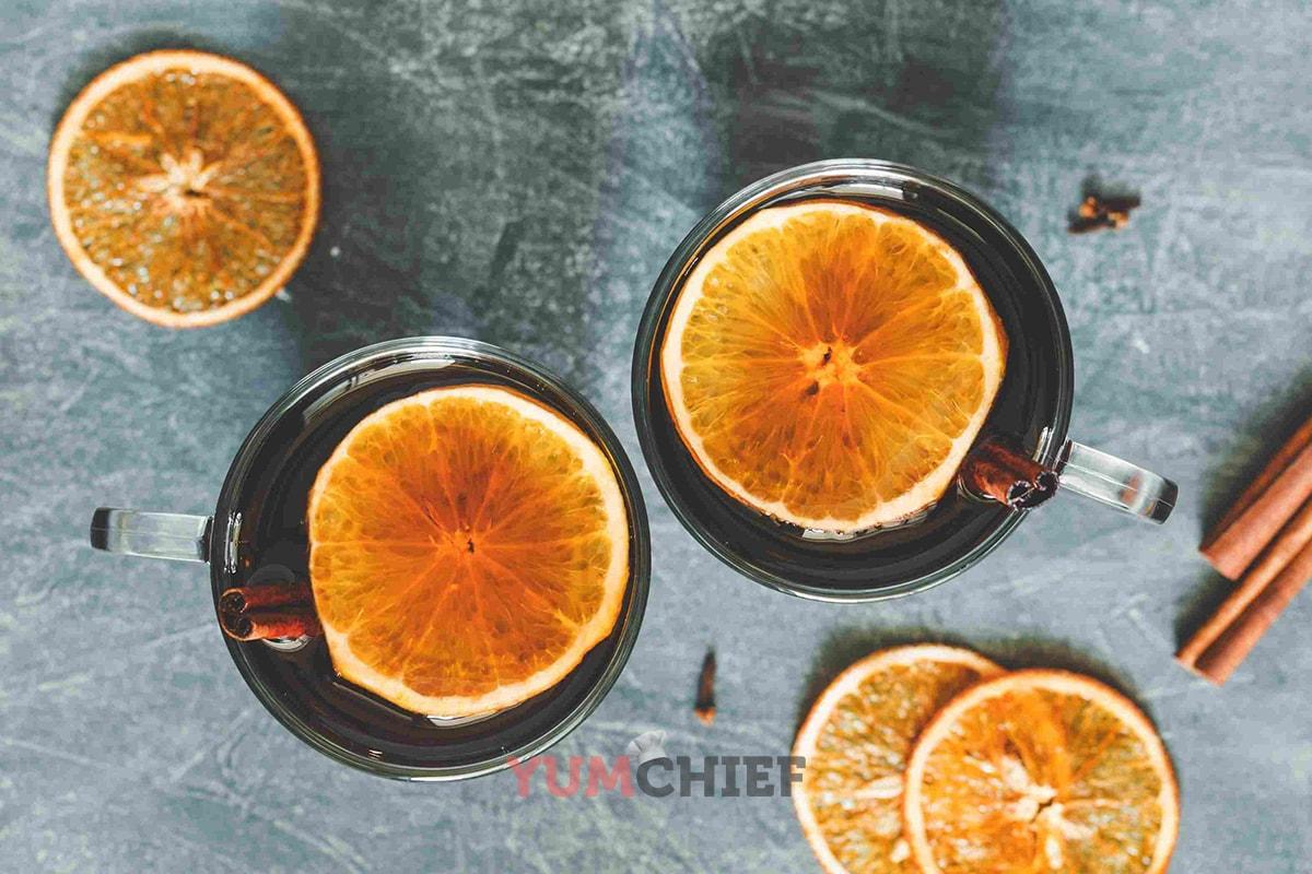 Рецепт классического глинтвейна с апельсином фото