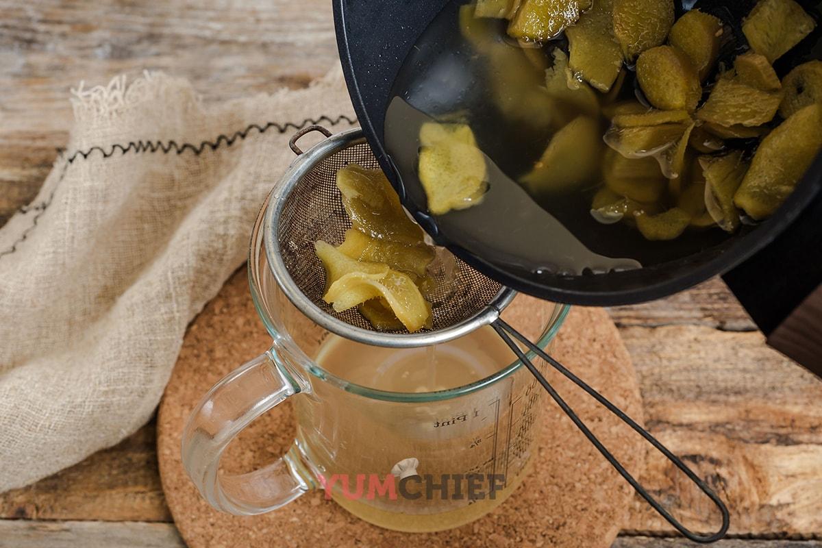 Как приготовить сироп из имбиря