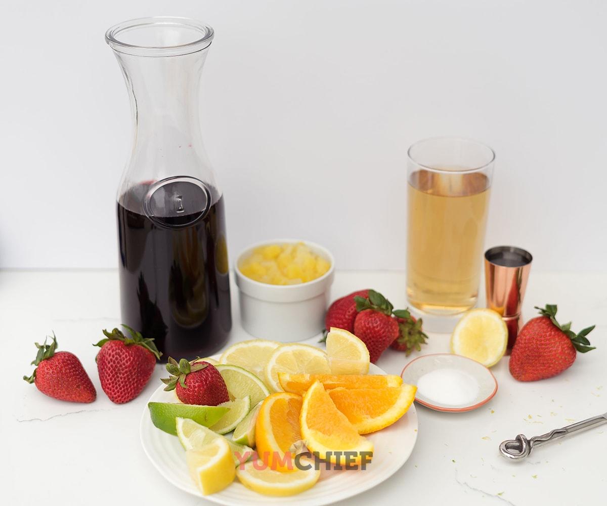 Сангрия домашняя с фруктами - рецепт с фото