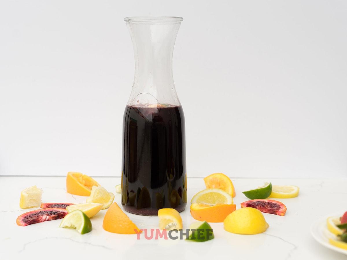 Приготовление сангрии с фруктами - рецепт с фото