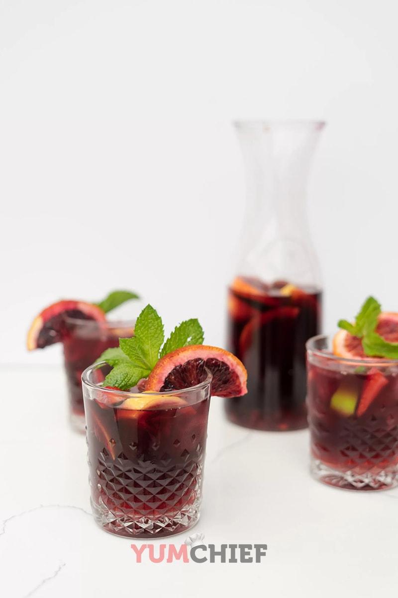 Рецепт приготовления домашней фруктовой сангрии