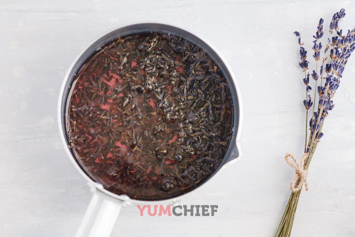 Как варить лавандовый сироп - фото