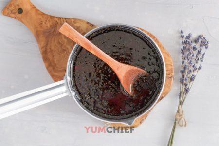 Фото приготовления сиропа из лаванды
