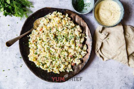 Рецепт оливье с курицей - фото