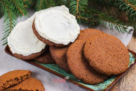Имбирное печенье с кремом - рецепт приготовления