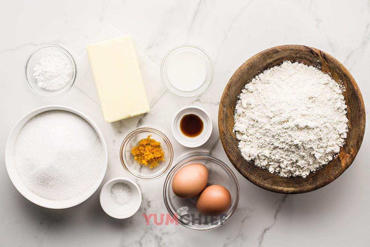 Состав вкусного песочного печенья