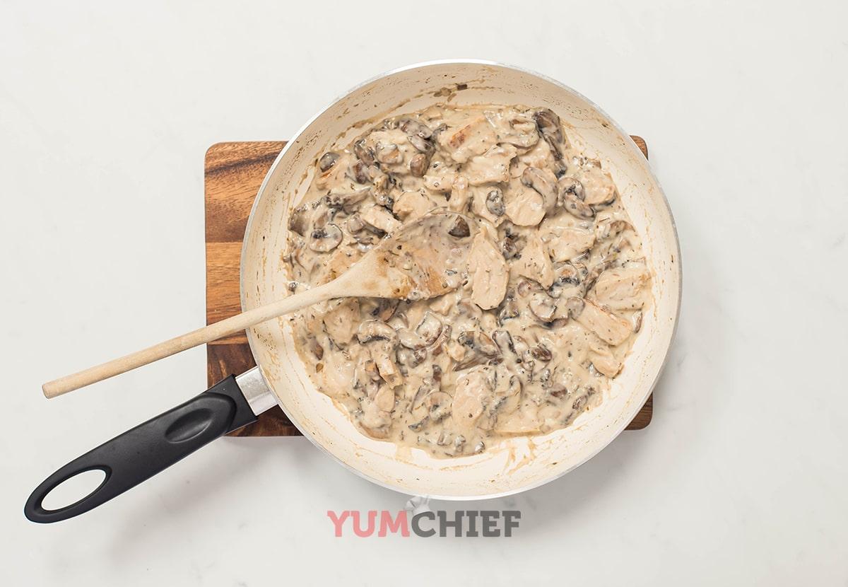 Приготовление грибов для блинов