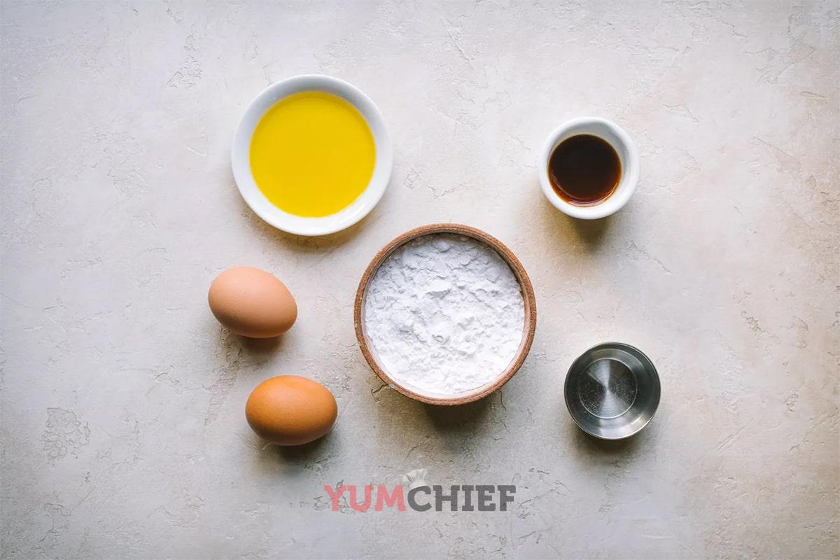 Ингредиенты для блинчиков без глютена и молока