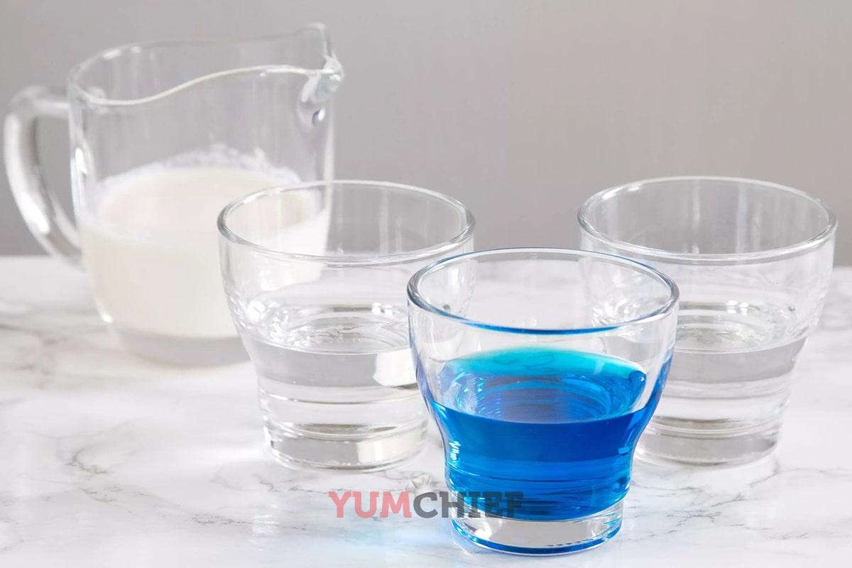 Фото ингредиентов для коктейля медуза