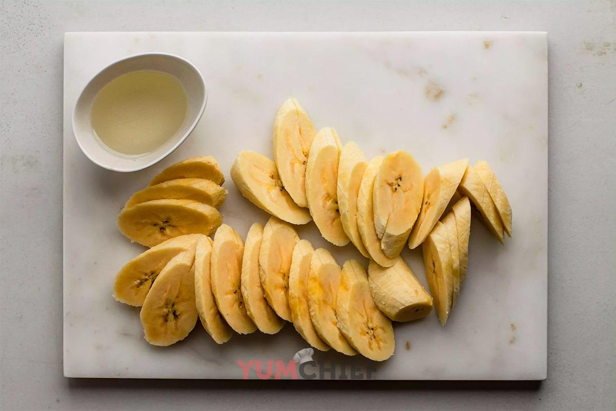 Как приготовить жареные бананы фотография