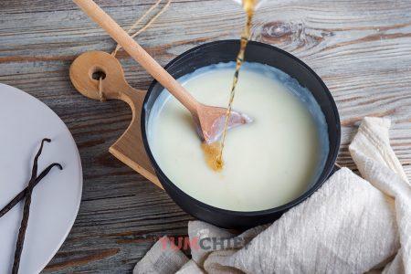 Как сделать ванильный пудинг